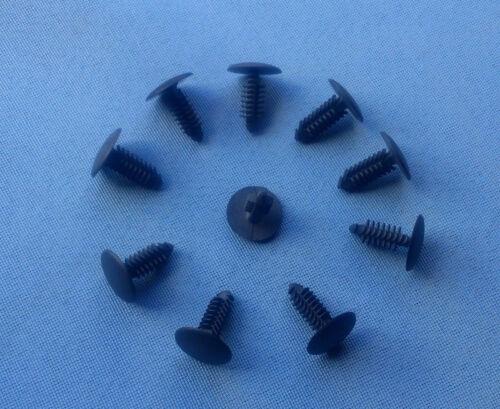 10x disfraz clips fijación KLIPS soporte universal negro 8mm 173a