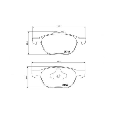 Textar Bremsbelagsatz Devant Ford Kuga II transit tourneo Connect 1,0-1,6