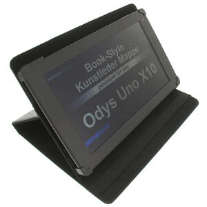 Funda-para-Odys-Uno-X-10-Book-Style-Tableta-Proteccion-Soporte-de-la-Funda-Negro