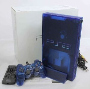 PS2-OCEAN-BLUE-Console-System-SCPH-37000-J1717478-Tested-Playstation-2-034-NTSC-J-034