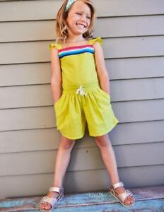 3bb2aa3e1b nwt MINI BODEN girls sz 4-5 PRETTY CULOTTE PLAYSUIT in yellow
