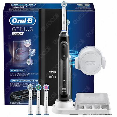 Oral-B Spazzolino Elettrico Genius 10000N Braun Nero Bluetooth Timer Custodia