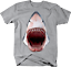 Great-White-Shark-Jaw-Bloody-Mouth-Wide-Open-Fishing-Ocean-Tshirt miniatuur 4