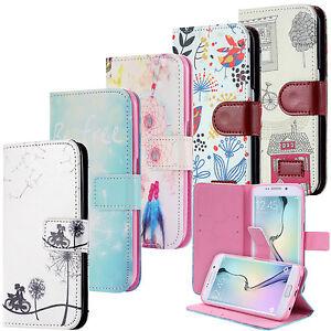 Cartera-Flip-Case-Wallet-Cover-Motivo-funda-bolsa-Samsung-Galaxy