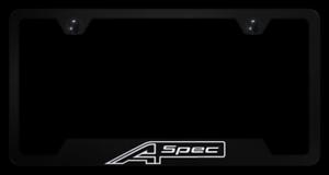 A Spec Black License Plate Frame For Acura Licensed