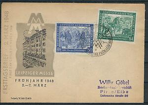 Ali. Restreints. Mi. Nº 967/968 Sur Officiel Fdc Avec Cachet 6.3.1948-afficher Le Titre D'origine Fabrication Habile