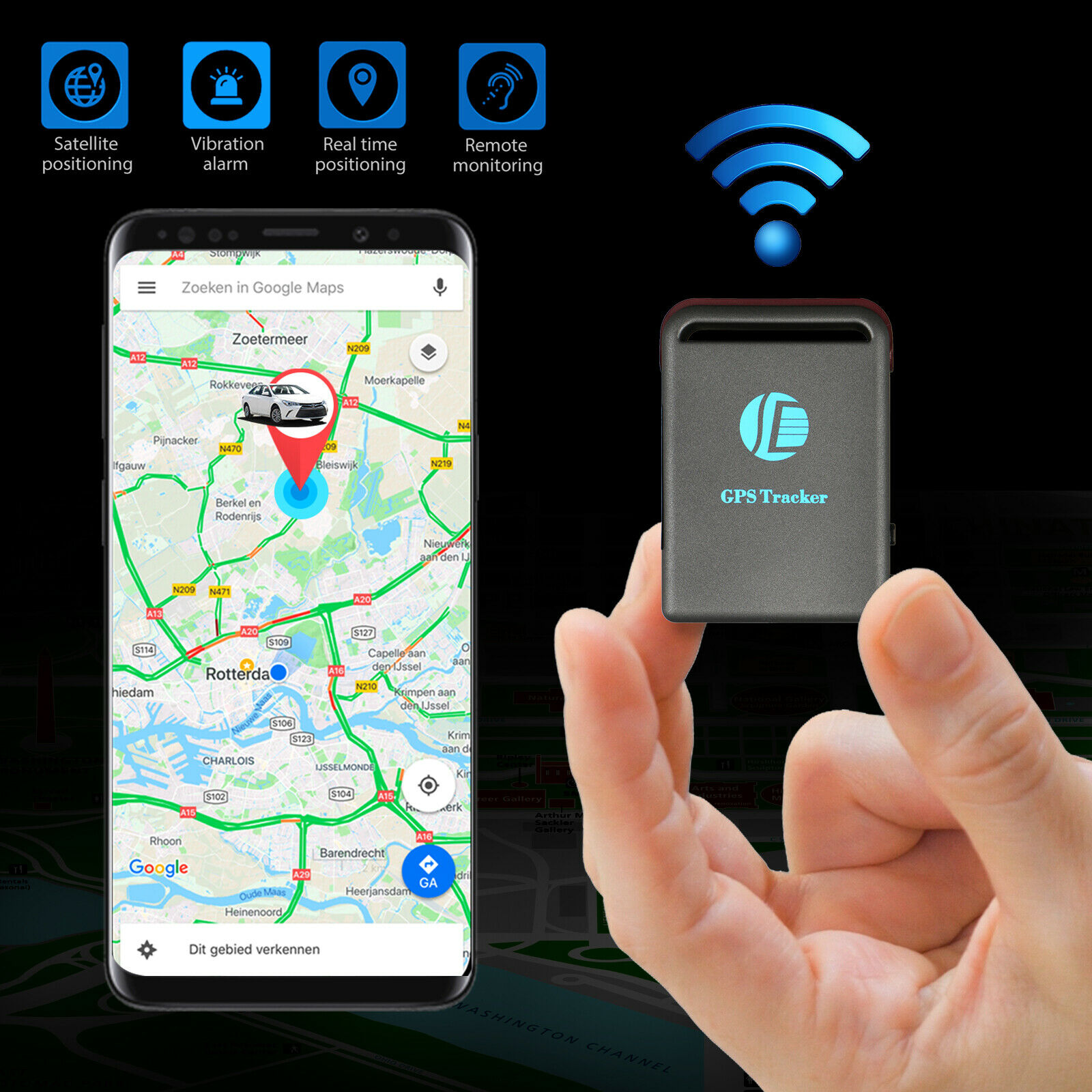 Image 1 - Magnetic-GPS-Tracker-Real-time-Vehicles-kids-Hidden-Car-Tracking-device-GSM-GPRS