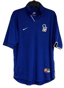 Nike-1998-World-Cup-Italy-Italian-Federation-Home-Football-Soccer-Jersey-M