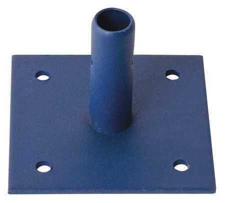 Metaltech M-Mbbf Base Plate, 6 In.L, Steel, 4-1/2 In.H