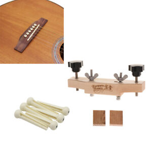 Solid-Wood-Acoustic-Guitars-Bridge-Caul-Clamp-Cork-Gasket-Bridge-Pins-Set