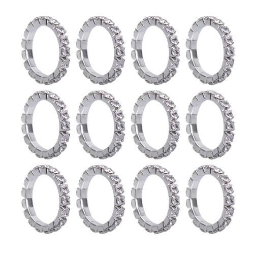 12 Stücke Damen Ring Kristallring Fingerring Elastisch Vintage Ringset