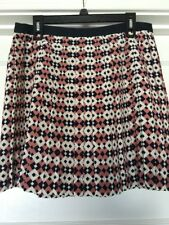 3b206e89b item 5 J Crew Pleated Skirt Sz 6 Women's Geometric Diamond Tile Print Pink  White Silk -J Crew Pleated Skirt Sz 6 Women's Geometric Diamond Tile Print  Pink ...