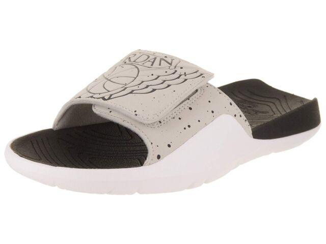 buy online 14bf4 c5649 Nike Jordan Hydro 7 Tech Grey Black White Mens Slides Sandals Aa2517 004  Size 13