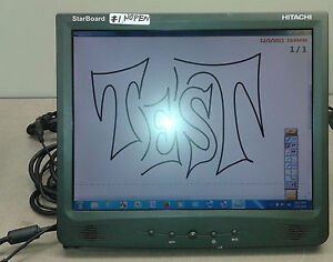 Friendly Tablet,hitachi Starboard T-15xl Interactive Tablet Monitor,w/software But No Pen Graphics Tablets/boards & Pens