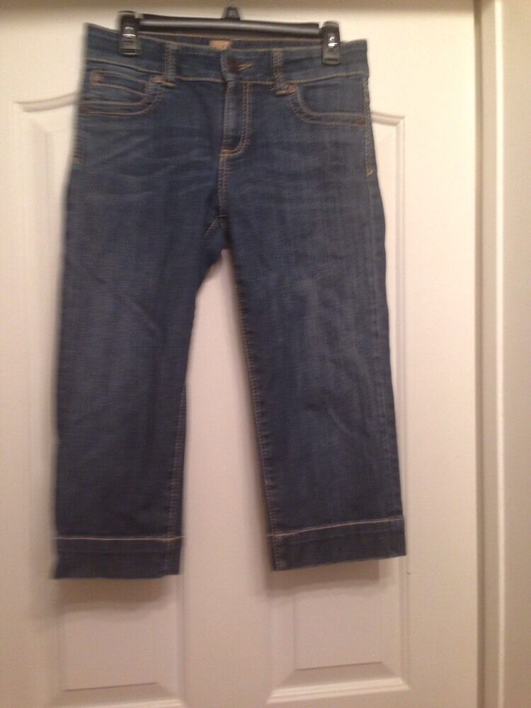 KUT FROM THE KLOTH Cotton Blend bluee Cropped Jeans Sizes 6