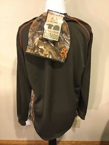71019faf7 NEW Realtree Brown   Camo Long Sleeve Tee   Beanie Combo Mens Size ...