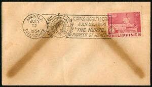 Philippine-1954-WORLD-HEALTH-DAY-The-Nurse-Pioneer-of-Health-FIRST-DAY-COVER