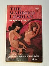 1969 UNREAD Vintage Paperback VP377 THE MARRIED LESBIAN by BERYL CARLTON