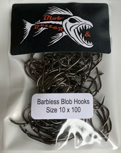 Barbless Blob Hook Size 10 X 100