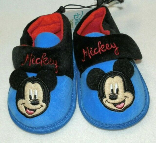 Toddler Mickey Mouse Slippers Size 2