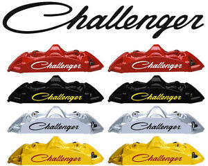 8 Dodge CHARGER Curved Brake Caliper Decals