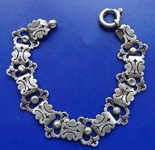 antique Victorian SILVER fancy book chain bracelet -D74