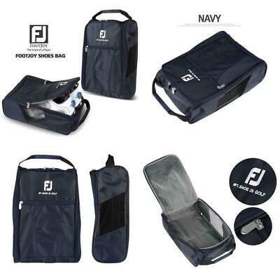 Golf Shoe Bag >> Footjoy Genuine Golf Shoes Bag Zipped Sports Bag Shoe Case Navy Color Ebay