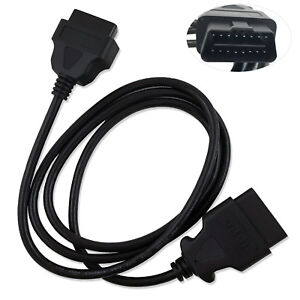 New OBD-II OBD2 Auto Car Male to Female Extension Cable Diagnostic Extender