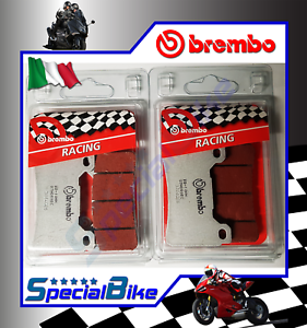 BREMBO SC RACING BRAKE PADS 2 SETS COMPATIBLE FOR HONDA CBR 1000 RR ABS 2009 >