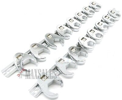 16pc CALHAWK FLARE NUT CROWFOOT WRENCH SET SAE /& METRIC