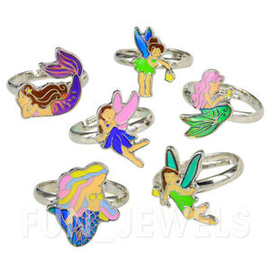 a10cf85b544f Details about Cute Fairy Mermaid Kids Children Color Change Mood Ring  Adjustable Free box