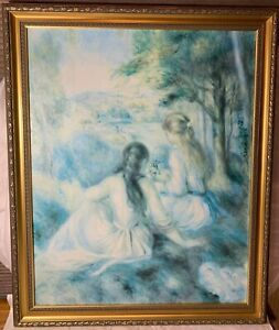 Framed-Pierre-Auguste-Renoir-In-the-Meadow-Reproduction-Oil-Painting-on-Canvas