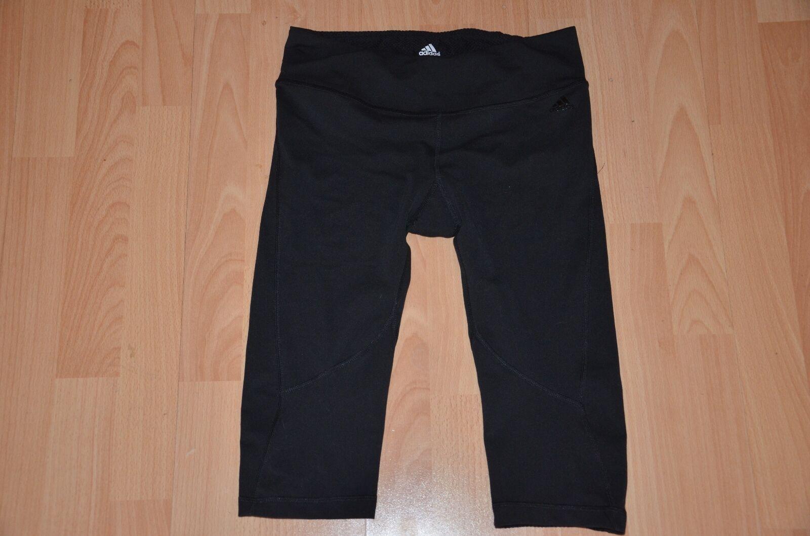 Die athletischen Leggings von Adidas für Damen haben schwarze Laufjogginggröße S