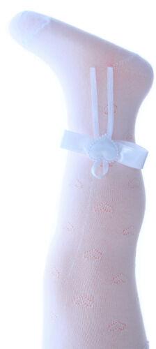 Strumpfhose Taufe Baby Strumpfhosen Creme Weiß 50 56 62 68 74 80 86 NEU Schleife