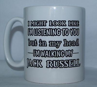 I'm Abhör But in mein Kopf I Am Wanderschuhe Mein Jack Russell Bedruckt Tee /