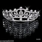 New Crystal Bridal Crown Jewelry Fascinator Wedding Hair Accessories Headwear A!