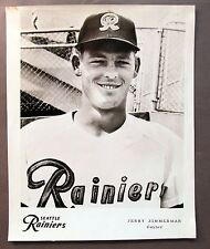 1960 JERRY ZIMMERMAN Seattle Rainiers Popcorn Card premium 8x10 PCL baseball