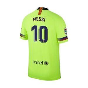 8d29bde827 Nike FC Barcelona 2018 - 2019 Away Messi  10 Soccer Jersey Volt Kids ...