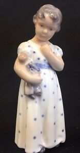 ROYAL COPENHAGEN Figurine Girl with Doll