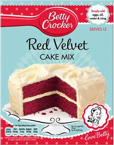 Betty Crocker Red Velvet Cake Mix 3 X 425g 721898047303 Ebay