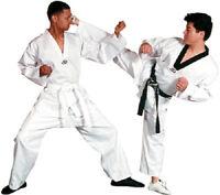Tae Kwon Do V-neck Uniform Gi With White Belt