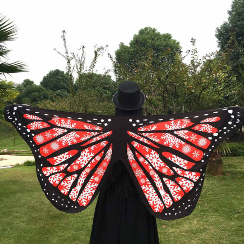Women Coverup Soft Fabric Butterfly Wings Fairy Nymph Pixie Costume Accessories