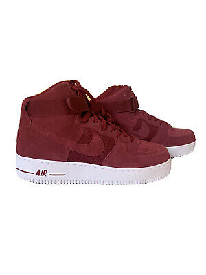 New With Box Nike Air Force 1 High Tops University Red Mens 9 5