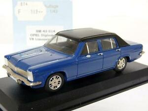 Swiss-Mini-SM-43-014-1-43-1977-Opel-Diplomat-B-V8-Handmade-Resin-Model-Car