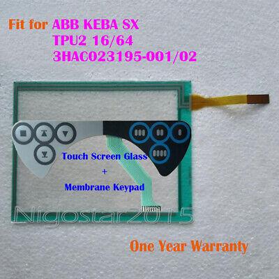 Touch Glass /& Membrane Keypad for ABB KEBA Sx TPU2 3HAC023195-001 Teach Pendant
