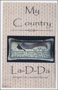 Details about My Country Crow American Flag Patriotic La-D-Da Cross Stitch  Pattern