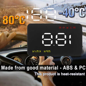 Details about Car Auto OBD2 A1000 HUD Head Up Display Digital Speedometer  Speed Warning
