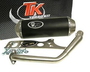 Auspuff-Sport-mit-E-Zeichen-Turbo-Kit-GMax-4T-fur-Kymco-Agility-125-Movie-XL