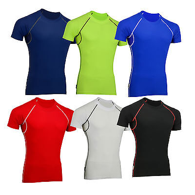 Mens Cycling//Gym Compression//Base Layer Thermal Vented Armpit Half SleevsTop