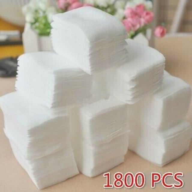 Cotton Velvet Pad Paper Nail Art Manicure Eraser Cleaning Wipes Cotton 900/1800